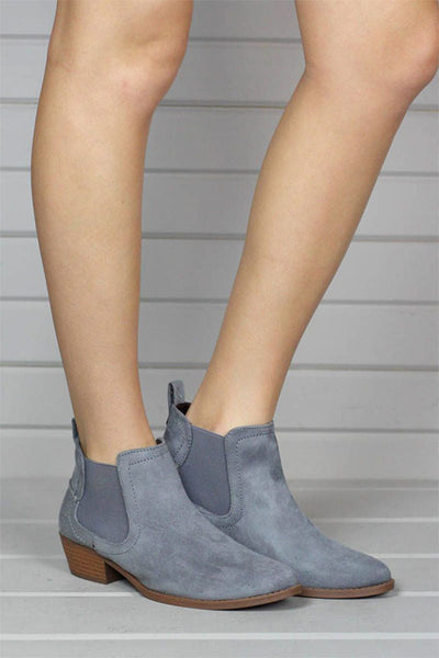 Bootie with stretch side