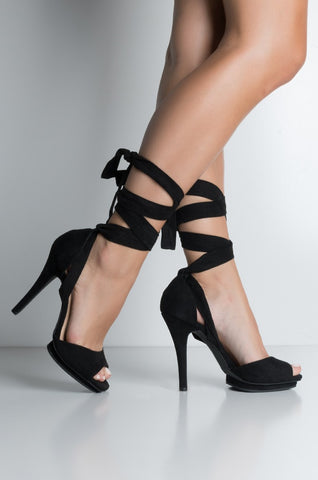 The Hands Off My Strappy Platform Sandals