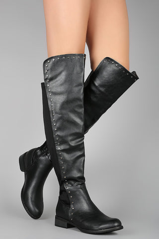 Tall Boot with Stud Trim