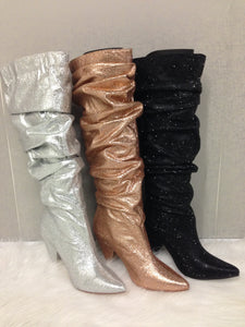Glitter Gathered Boot