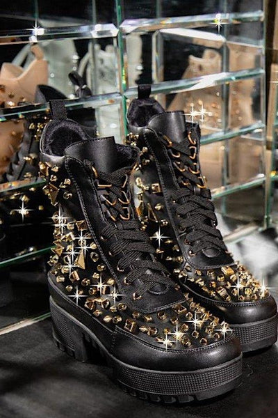 Starry Studded Combat Boot