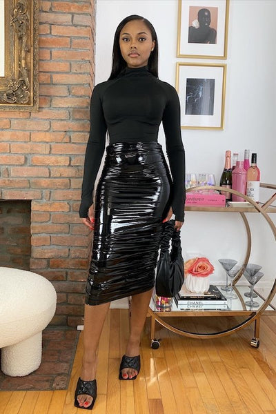 Latex Wrinkle Skirt