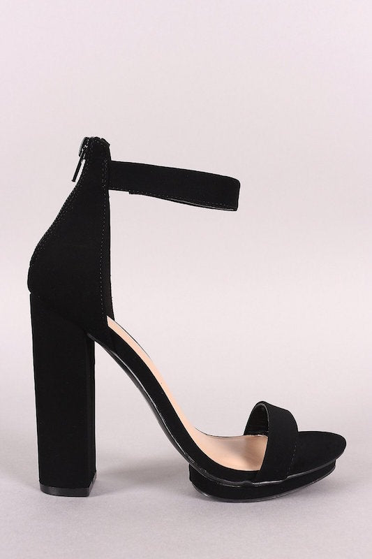 Ankle Strap Thick Heel