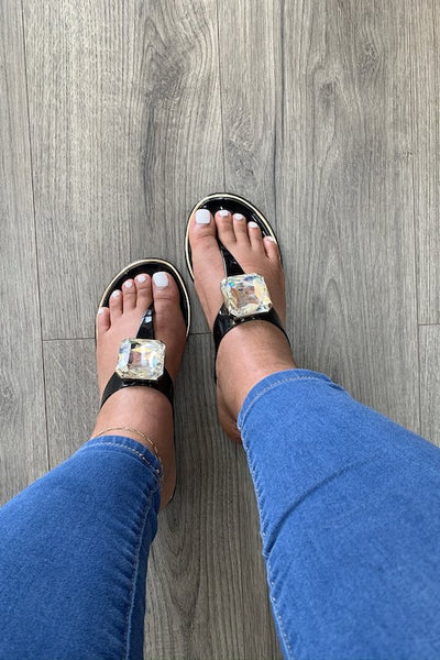 Jewel Thong Jelly Sandal