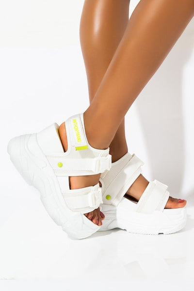 Wedge Sandal with Buckle