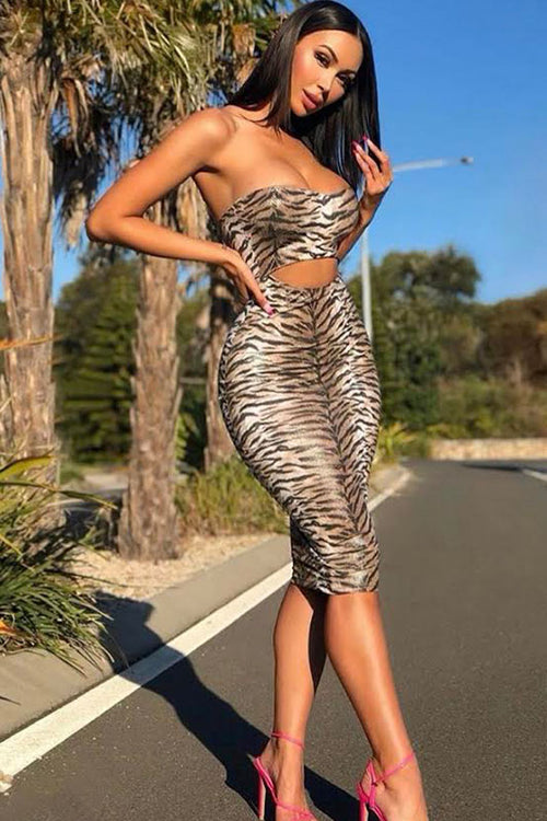 Cut Out Tube Dress