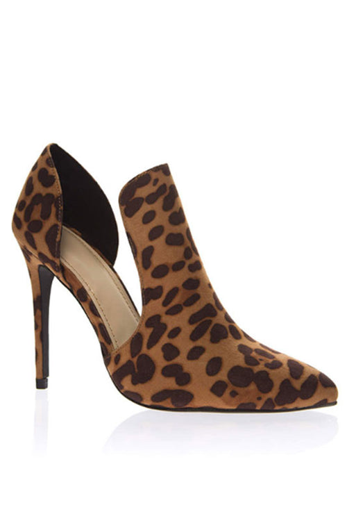 Leopard Cut out Heel
