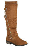 Knee Length Buckle Boot