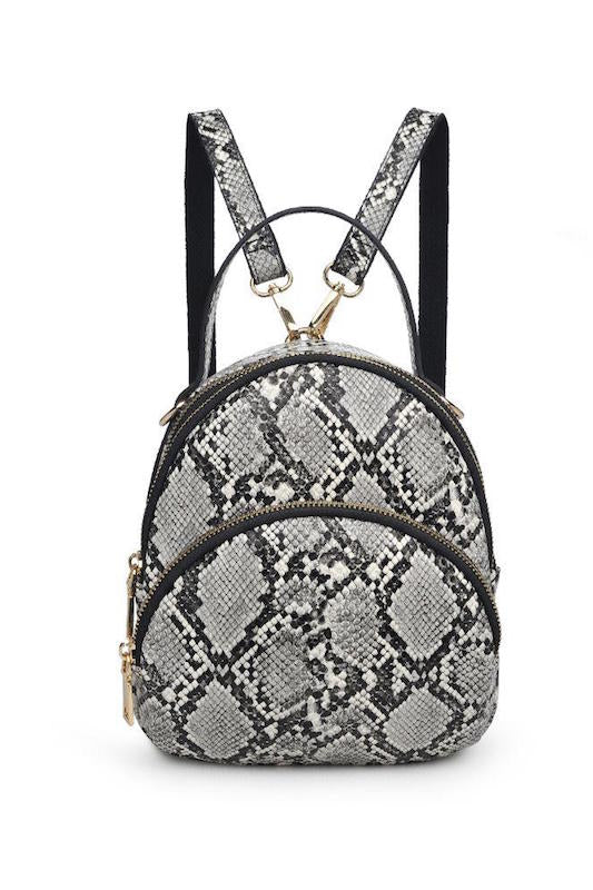 Small Snakeskin Backpack