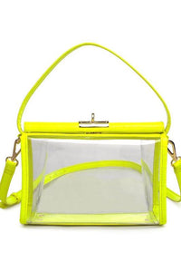Clear Bag with Crocodile Trim