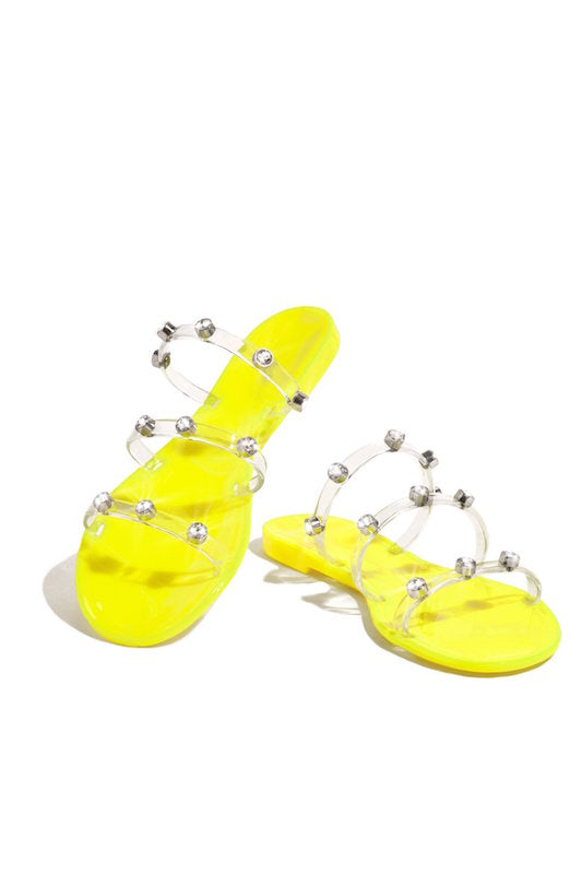 Jelly Three Clear Band Sandal