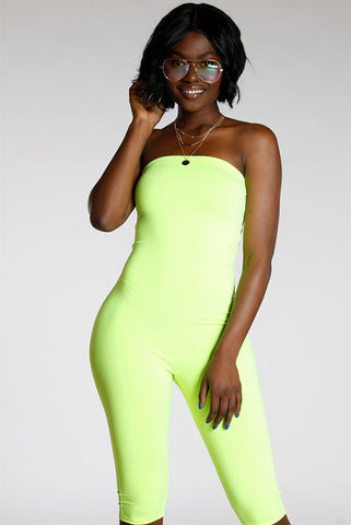 Tube Top Bermuda Jumpsuit