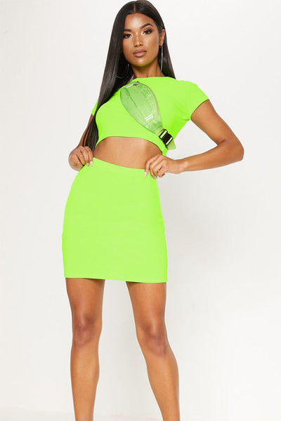 Crop Mini Skirt Set