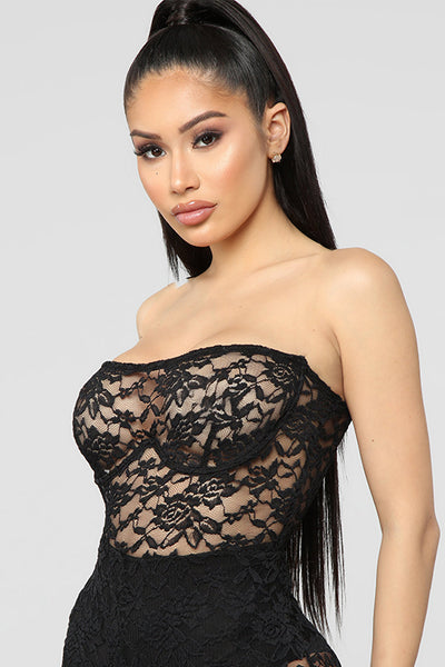 Tube Top Lace Bodysuit
