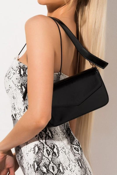 Patent Envelope Clutch Bag with Adjustable Strap