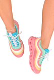 Striped Multi Colored Chunky Sneaker