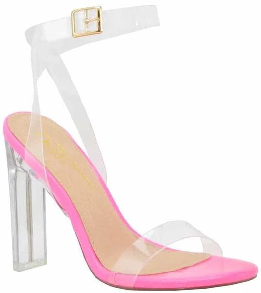 Clear Strappy Heel Sandal
