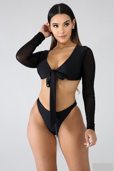 Bikini with Long Sleeve Top