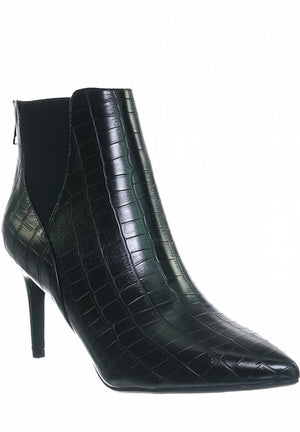 Crocodile Bootie with Thin Heel