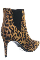 Leopard Bootie with Thin Heel