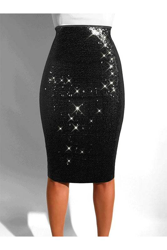 Midi Sequin Skirt