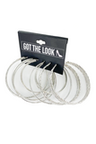 Big Silver Loop Earring Set
