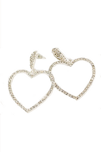 Rhinestone Heart Shape Earring