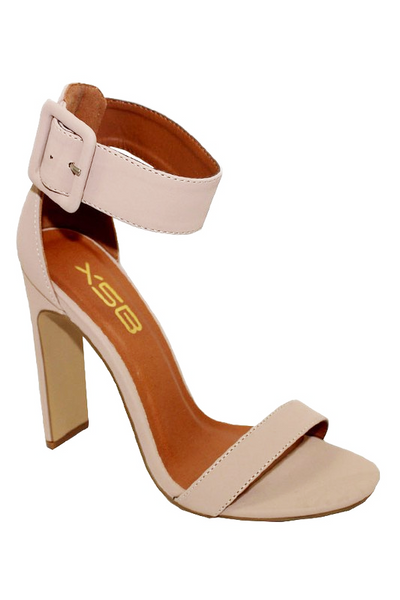 Thick Ankle Strap Heel