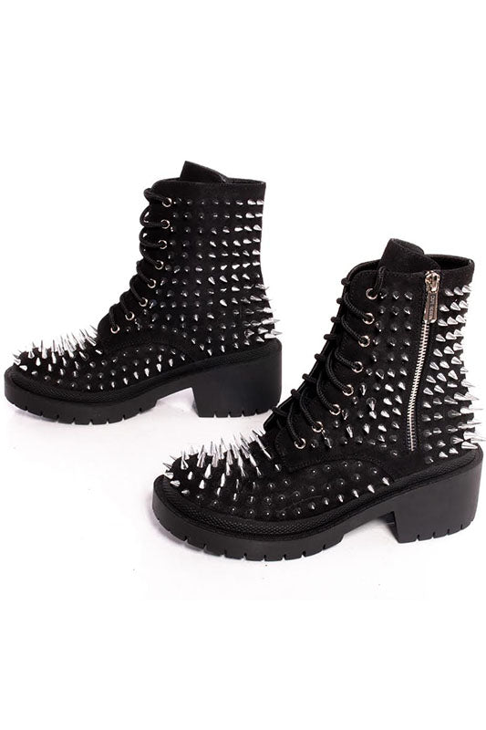 Spiky Combat Boot