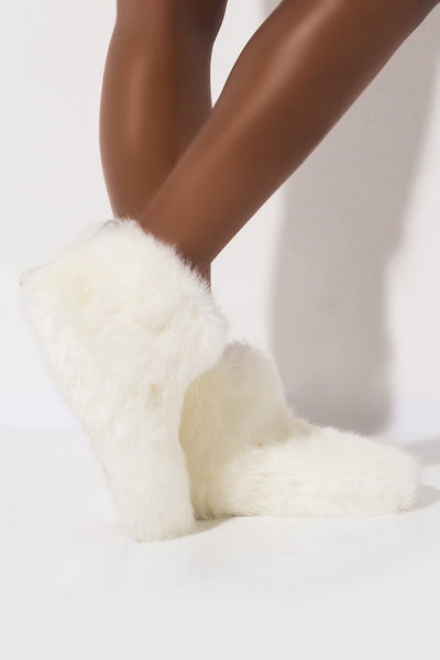 Fluffy Furry Winter Bootie