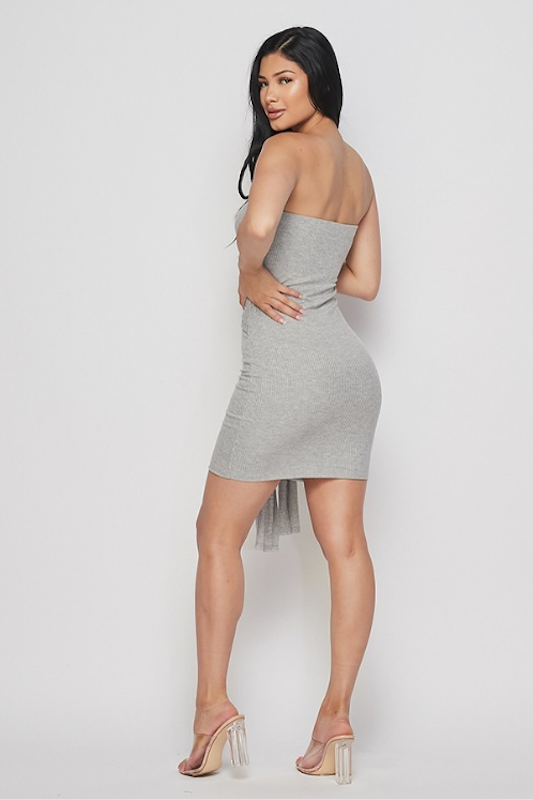 Tube Dress with Front Tie