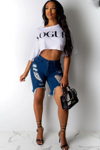 'VOUGE' Crop Top