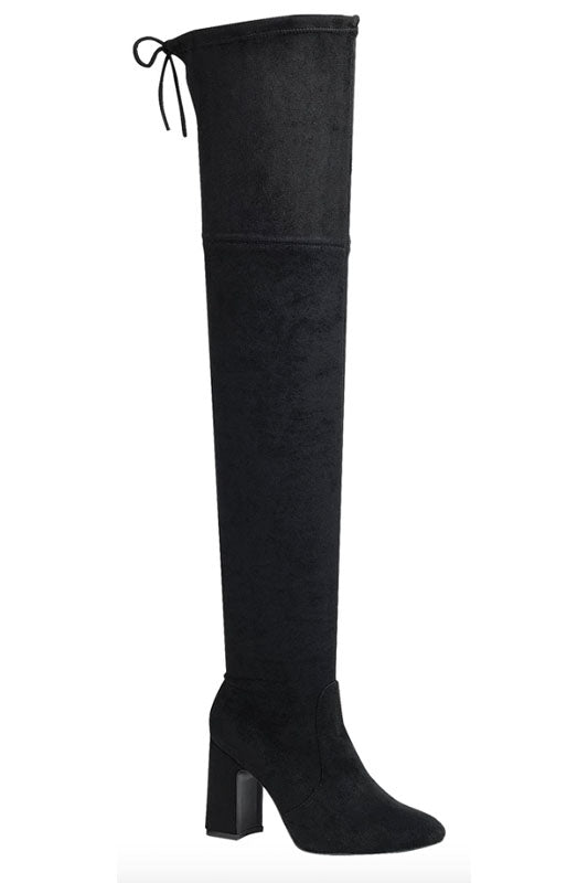 Thigh High Boot with Block Heel