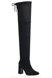 Tall Thigh High Boot with Thick Heel