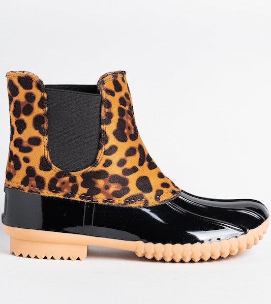 Short Leopard Rainboot