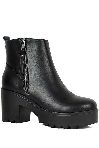 Chunky Platform Ankle Bootie