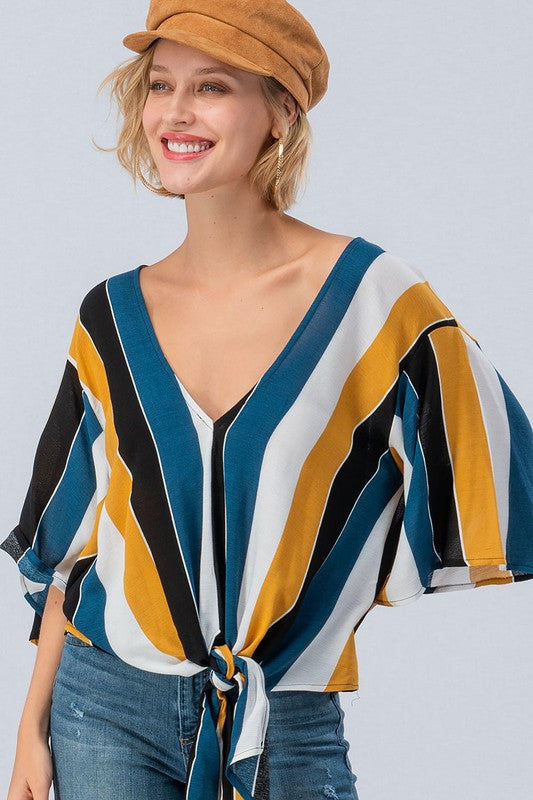 Retro Bold Stripe Top