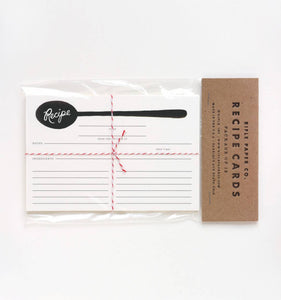 12 Charcoal Spoon Recipe Cards