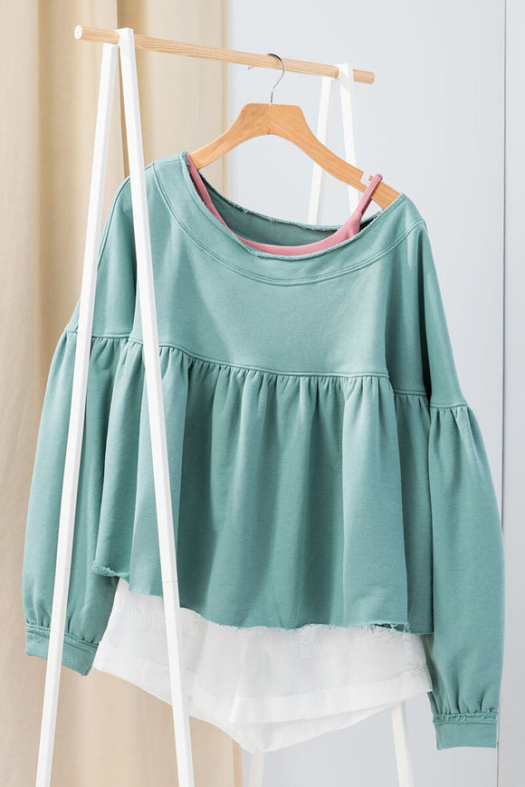 Terry Knit Babydoll Top