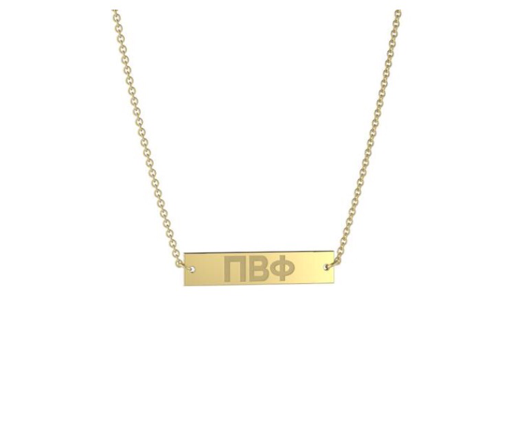 Sorority Bar Necklaces