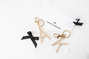 Pearl Letter Keychain