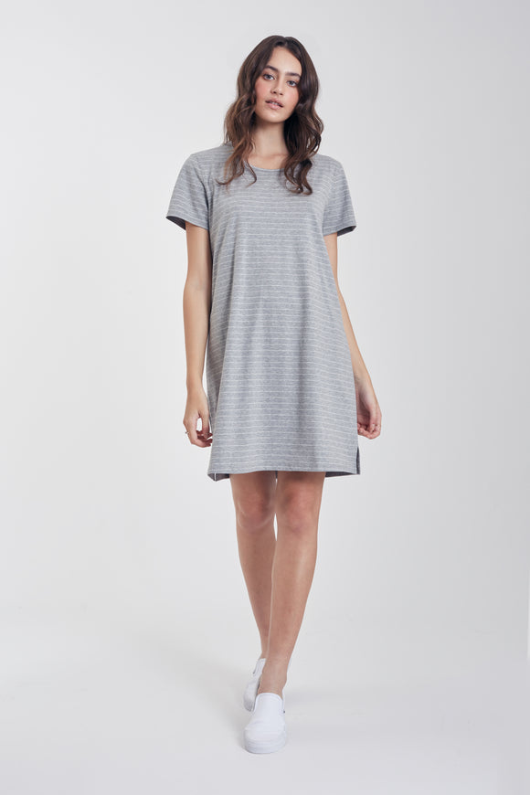 Stripe Key-hole T-shirt Dress