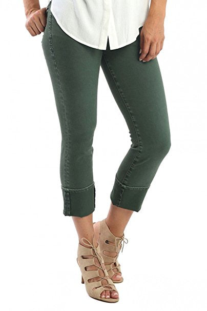 Playback Cuffed Straight Leg in Olive