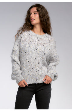 Speckled Chunky Knit Sweater