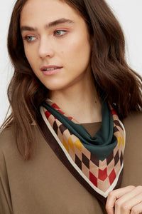 Fashion Scarf with Check Print Edge