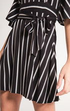 Morgan Striped Wrap Dress
