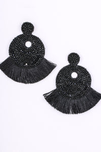 Boho Beaded Fringe Earrings