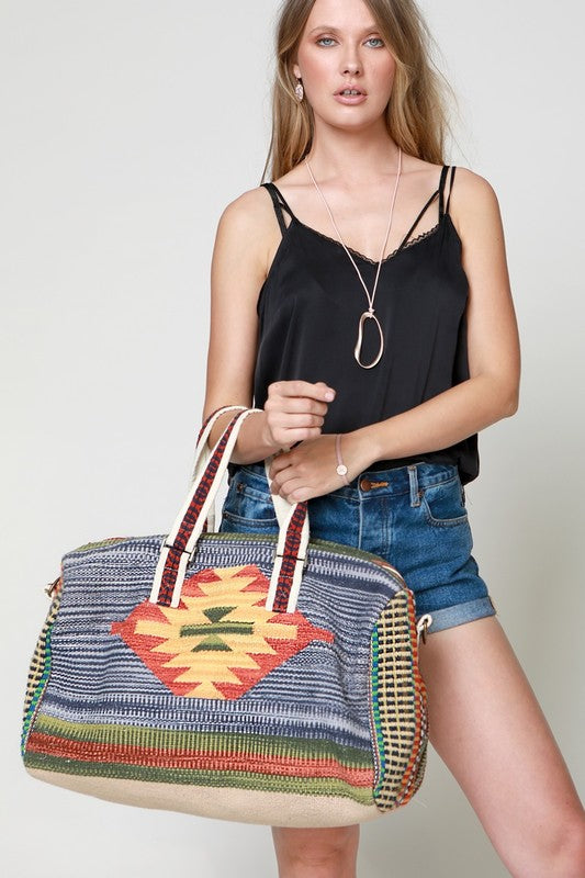 Boho Chic Luxury Boston Bag