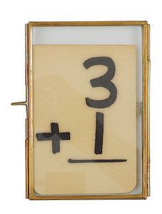 "4X6"" Brass and Glass Photo Frame"
