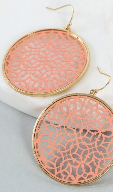 Round Moroccan Tile Earrings